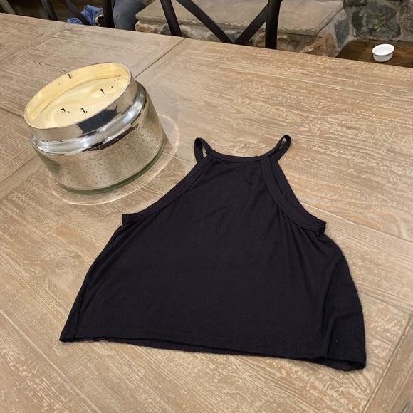 Brandy Melville Tops - Brandy Melville Black Crop Tank Top